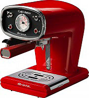 Ariete Macchina Caffè Espresso Manuale cialdepolvere Cafè Retro Rossa 1388