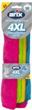 Arix 28604 Confezione 4 panni multiuso 100% Microfibra 4XL