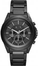 Armani Exchange AX2601 Orologio Uomo Acciaio Analogico Cronografo Nero Quadrante Nero