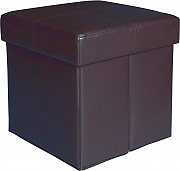 Arredare No Problem Pouf Contenitore senza bottoni 38x38x38 Marrone Storage