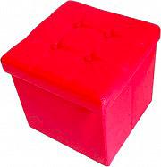 Arredare No Problem Pouf Contenitore Pouff Contenitore 38x38x38 cm Rosso Mini