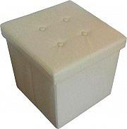 Arredare No Problem Pouf Contenitore Pouff Contenitore 38x38x38cm Bianco Storage