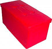 Arredare No Problem Pouf Contenitore Pouff Contenitore 78x38x38 cm Rosso STORAGE