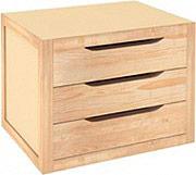 Astigarraga BLNA30.99 Cassettiera in legno Massello 3 Cassetti 39x30x29.5h