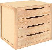 Astigarraga BLNA40.99 Cassettiera in legno Massello 4 Cassetti 39x30x37.5h