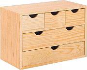 Astigarraga BLOC3X2X1 Cassettiera in legno Massello 6 Cassetti Mini 40x20x28 h