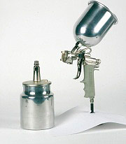 Asturo GE70018 Aerografo Pistola a Spruzzo Capacità 1000 cc Getto TondoVentaglio GE700