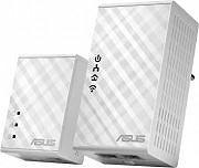 Asus Adattatore di Rete Powerline Wi-Fi LAN WLAN 300, 500 Mbits - PL-N12 Kit