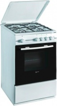 Atlantic ATGC55 Cucina a Gas 4 Fuochi Forno a Gas 50x50 cm Bianco