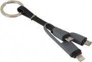 Atlantis P019-RC-MLMM Cavo USB Micro-USB B Micro-USB BLightning , Grigio
