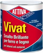 Attiva 711188030 Smalto Sintetico 0.750 105 Bianco Sat.Vivat