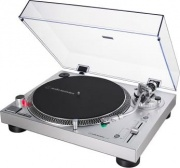 Audio Technica AT-LP120XUSBSV Giradischi a Trasmissione diretta servomotore CC Argento ATLP120X