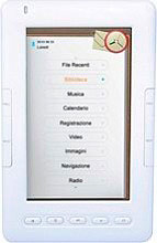 "Autovox Ebook Reader display 5"" Memoria 2Gb con Ingresso TF Card Bianco EB500"