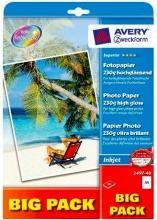 Avery 2497-40 Carta Fotografica A4 Confezione 40 fogli Carta Lucida