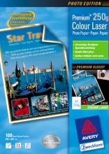Avery 2498 Risma Carta Fotografica A4 100 Fogli Bianco Premium Colour
