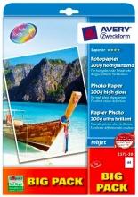 Avery 2572-50 Carta Fotografica A4 Confezione 50 fogli Carta Lucida