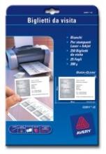 Avery C32011-25 Biglietti da Visita 85x54 mm Confezione 250 pezzi