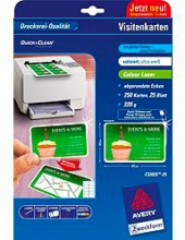 Avery C32025-25 Biglietti da Visita 85x54 mm Confezione 10 fogli  100 pezzi