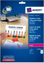 Avery C32026-10 Biglietti da Visita 85x54 mm Confezione 10 fogli  100 pezzi