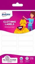 Avery ETVET36-UK Confezione 36 Etichete Tessuti 45x13