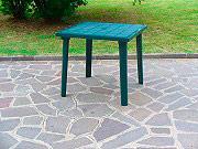 BICA 59 GREEN Tavolo da Giardino in Resina Tavolino Quadrato 80x80x72 Verde Weekend 59