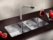 BLANCO 1518325 Lavello Cucina 2 Vasche Acciaio Incasso 87 cm  ANDANO 400400-U