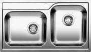 BLANCO 1612659 Lavello Cucina Incasso 2 Vasche 86 cm Base 90 cm Acciaio  Median 9