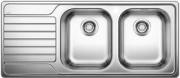 BLANCO 1328107 Lavello Cucina Incasso 2 Vasche Gocciolatoio Dx 116 cm  Dinas 8 S