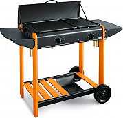BST Barbecue a Gas Metano GPL BBQ Giardino Acciaio 6.2 kW 76x43x83h cm 340 Miami