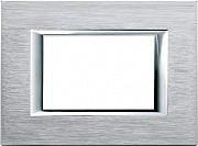BTICINO Placca Placchetta Elettrica Copri Interruttori 3 Posti Axolute HA4803CR