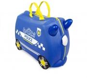 Baby Love TR0323-GB Valigia Trunki Police Car Blu