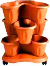 Bama 30015 Vaso Trifoglio Coccio 40 h. 51 Set