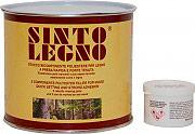 SintoLegno 102 Mastice Stucco Bicomponente per legno Chiaro  Scuro 750 ml