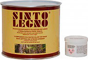 Bandini Mastice Stucco Bicomponente per legno Chiaro 750 ml Sintolegno