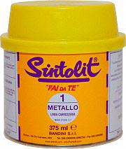Bandini Mastice Stucco solido per Metallo confezione 375 ml Sintolit