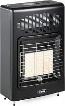 Bartolini Stufa a Gas Metano Infrarossi Ventilata 4.200W Metano Black Turbo