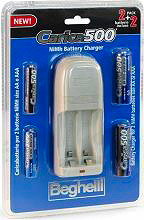 Beghelli Carica 500 Pack Caricabatterie pile Ricaricabili 2 AA  2 AAA + 4 pile