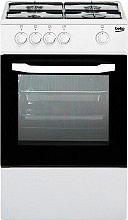 Beko CSG42000DW Cucina a Gas 4 Fuochi Forno a Gas Grill 50x50 cm Coperchio