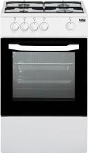 Beko CSG42001FW Cucina a Gas 4 Fuochi Forno a Gas 50x50 cm Coperchio Bianco