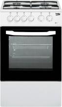 Beko CSS42014FW Cucina a Gas 4 Fuochi Forno Elettrico 50x50 cm Coperchio Bianco