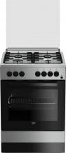 Beko FSE62110DX Cucina a Gas 4 Fuochi Forno Elettrico Grill 60x60 cm Inox