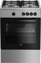 Beko FSG62000DX Cucina a Gas 4 Fuochi Forno a Gas 60x60 cm Inox