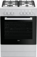 Beko FSST62110DW Cucina a Gas 4 Fuochi Forno Elettrico Grill 60x60 cm Bianco