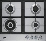 Beko HIAW 64225 SX Piano Cottura 4 Fuochi Incasso a Gas 60 cm Griglie Ghisa Inox