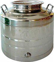Belvivere contenitore_30 Contenitore per Alimenti in Acciaio inox Capacità 30 litri