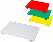 Bertoli TAGLIERE_BI_60X40X3 Tagliere in polietilene con Fermo 60X40X3 colore Bianco TAG_BI