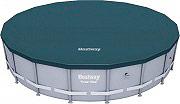 Bestway 58249 Telo copertura per piscina fuori terra rotonda Steel Pro 488x122cm