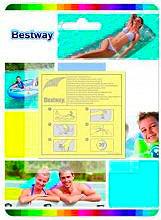 Bestway Kit riparazione piscine 10 Toppe Heavy - 62068 Duty