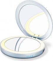 Beurer BS 39 Specchio LED Bagno Trucco Diametro 7 cm Porta USB Silver