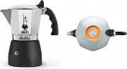 Bialetti 0006188 Macchinetta Caffè Polvere Moka 2 tazze AcciaioNero  BRIKKA